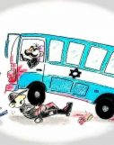 اتوبوس از مانع پرانی